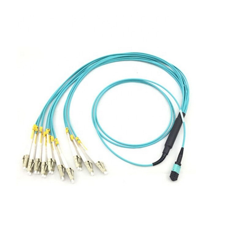 10G MTP MPO Fiber Optic Patch Cord 8 Fibers Multi Mode Duplex LC Breakout Fanout